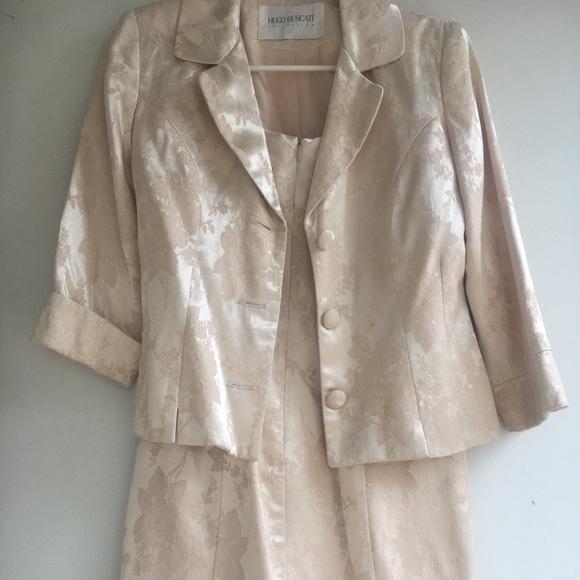 Hugo Buscati Dresses Womens Cream Color Suit Sz 2 Poshmark